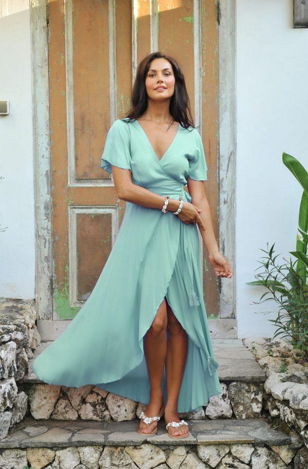 14. A2052 Wrap Dress Dani Sea Mist