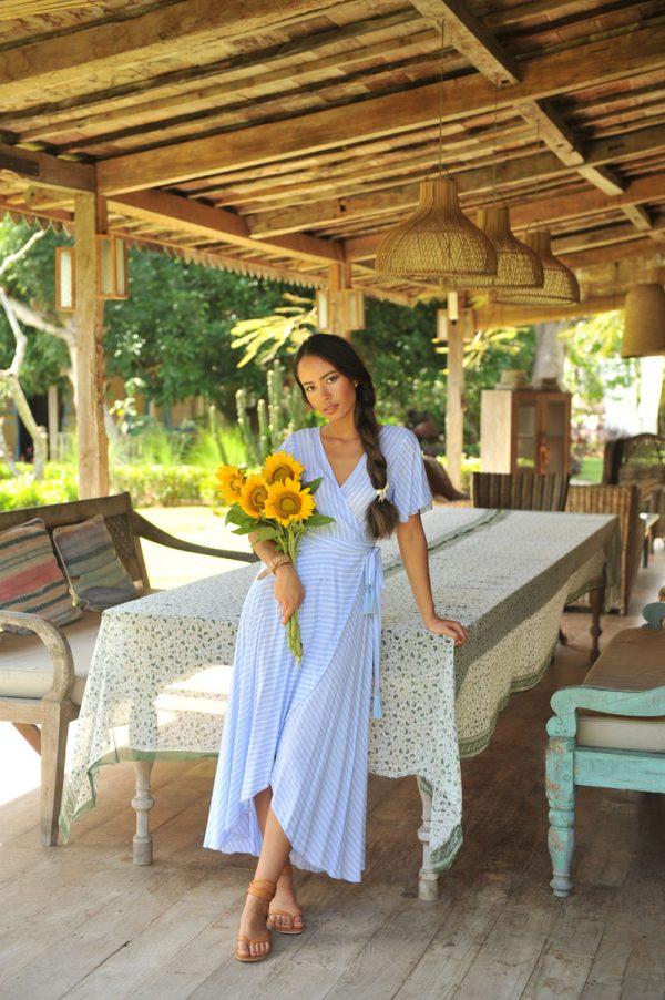 17. A20358 Wrap Dress Dani Deauville Lavender