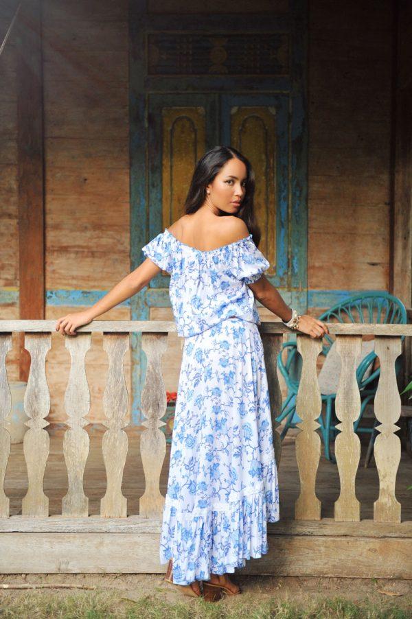18. A20432 Skirt Rosalie Wild Bloom Blue A20431 Top Rosalie Wild Bloom Blue