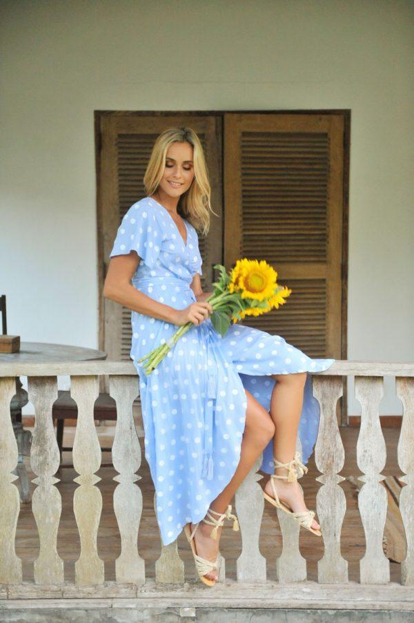 2. A20370 Wrap Dress Dani St. Tropez Lavender (1)