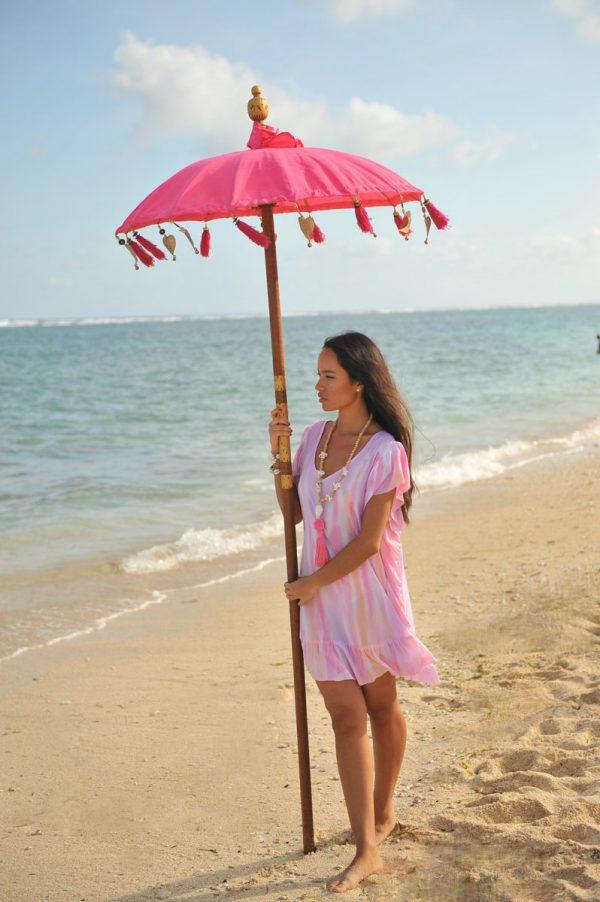 27. A20298 Poncho Ruffle Papagayo Pink