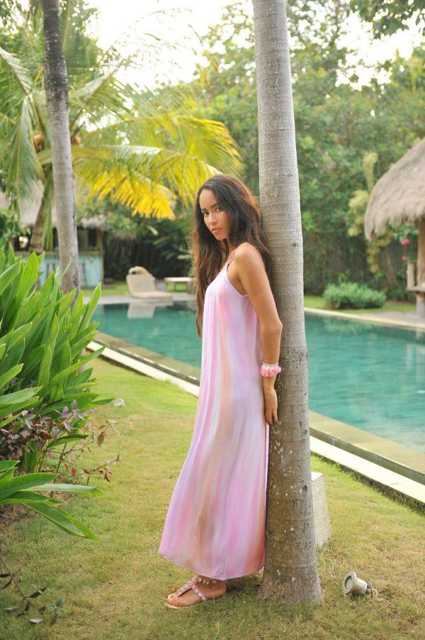 29. A20293 Dress Anna Tie Dye Papagayo Pink
