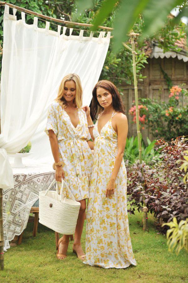 3. W20122 Dress Goldy Wild Bloom Yellow B2004 Dress Indy Wild Bloom Yellow (1)