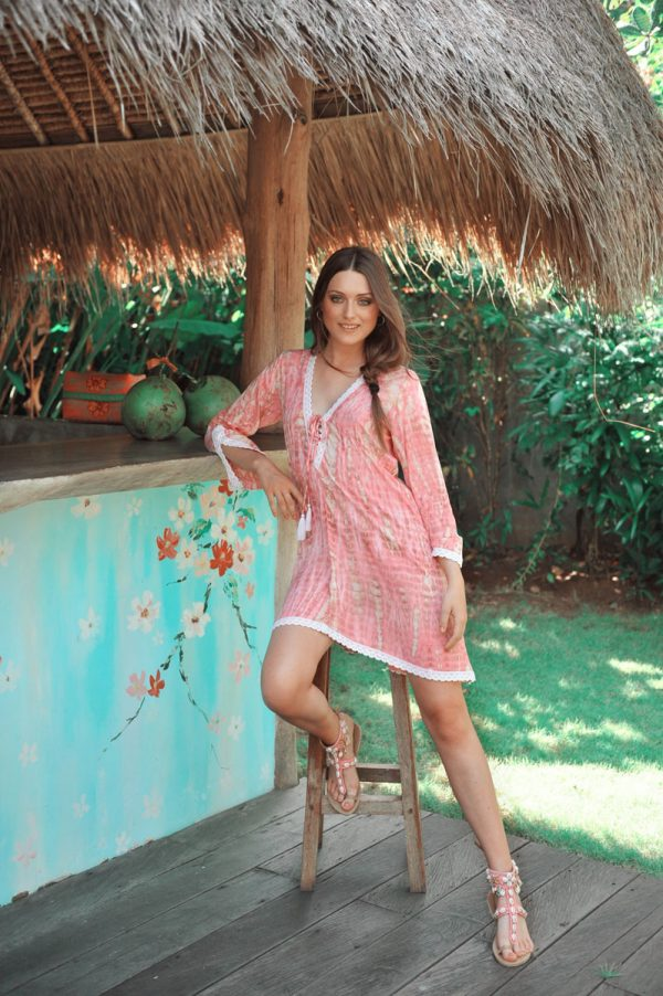 31.3 A20382 Tunic SK Moonstone Coral