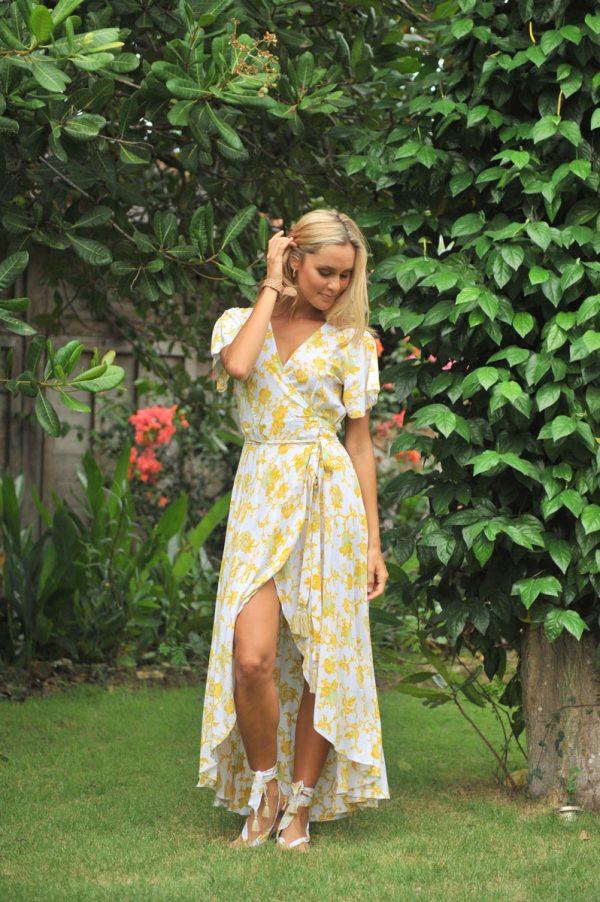 4. A20430 Wrap Dress Dani Wild Bloom Yellow (7)