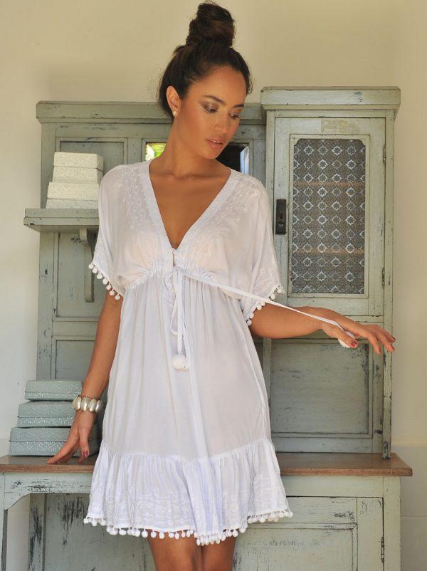 5. W2032 Dress Nicole Deep White
