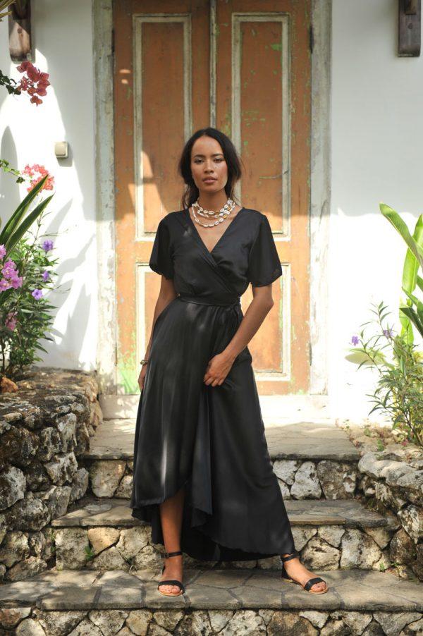 A2052 Wrap Dress Dani Black (1)