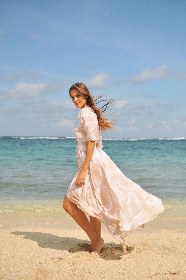 y. A20336 Dress Mila Sol Taupe (5)