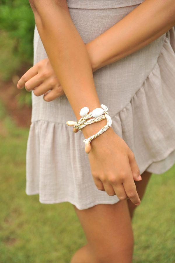 80. KR20287 Bracelet montego Bay Ivory Gold