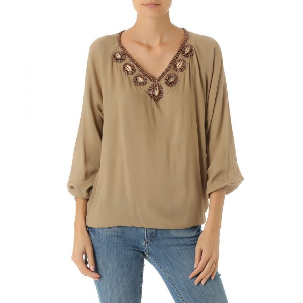 Blouse Black Pearl Taupe