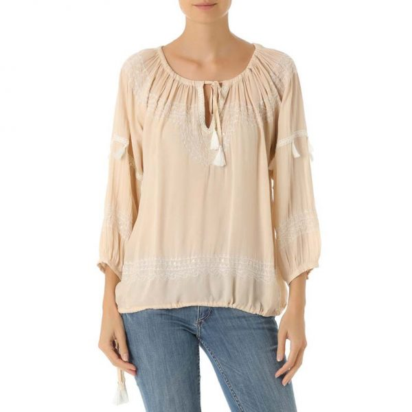 Blouse Gabrielle Beads Champagne 1